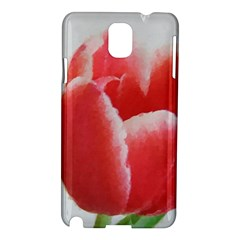 Red Tulip Watercolor Painting Samsung Galaxy Note 3 N9005 Hardshell Case