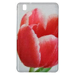 Red Tulip Watercolor Painting Samsung Galaxy Tab Pro 8.4 Hardshell Case