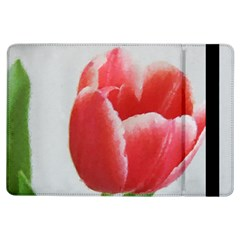 Red Tulip Watercolor Painting iPad Air Flip