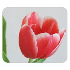 Red Tulip Watercolor Painting Double Sided Flano Blanket (Small)