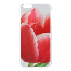 Red Tulip Watercolor Painting Apple Seamless iPhone 6 Plus/6S Plus Case (Transparent)