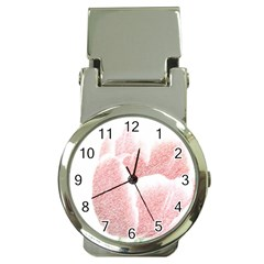 Red Tulip pencil drawing Money Clip Watches