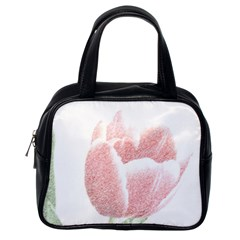 Red Tulip pencil drawing Classic Handbags (One Side)