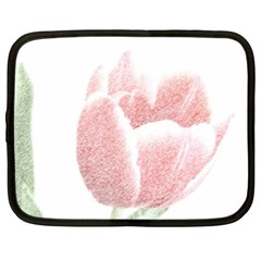 Red Tulip pencil drawing Netbook Case (XXL)