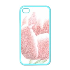 Red Tulip pencil drawing Apple iPhone 4 Case (Color)