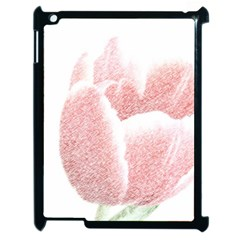 Red Tulip pencil drawing Apple iPad 2 Case (Black)