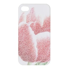 Red Tulip pencil drawing Apple iPhone 4/4S Hardshell Case