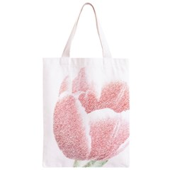 Red Tulip pencil drawing Classic Light Tote Bag