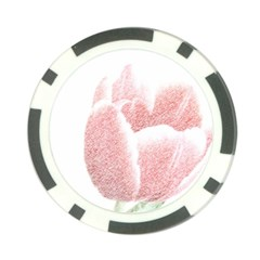 Red Tulip pencil drawing Poker Chip Card Guards (10 pack)