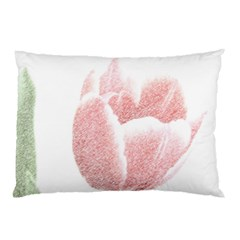 Red Tulip pencil drawing Pillow Case (Two Sides)