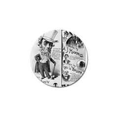Vintage Song Sheet Lyrics Black White Typography Golf Ball Marker