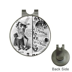 Vintage Song Sheet Lyrics Black White Typography Hat Clips with Golf Markers