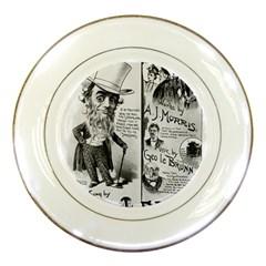 Vintage Song Sheet Lyrics Black White Typography Porcelain Plates