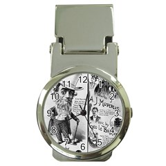 Vintage Song Sheet Lyrics Black White Typography Money Clip Watches