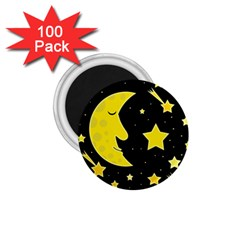 Sleeping moon 1.75  Magnets (100 pack)