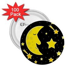 Sleeping moon 2.25  Buttons (100 pack)