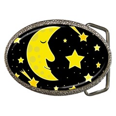 Sleeping moon Belt Buckles