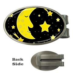 Sleeping moon Money Clips (Oval)
