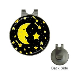 Sleeping moon Hat Clips with Golf Markers