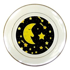 Sleeping moon Porcelain Plates