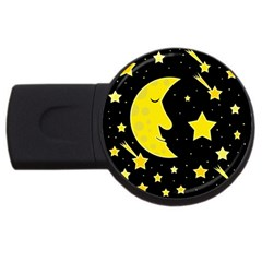 Sleeping moon USB Flash Drive Round (4 GB)