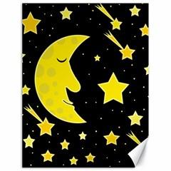 Sleeping moon Canvas 18  x 24