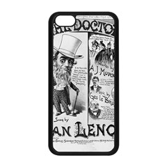 Vintage Song Sheet Lyrics Black White Typography Apple iPhone 5C Seamless Case (Black)