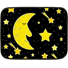 Sleeping moon Double Sided Fleece Blanket (Mini)
