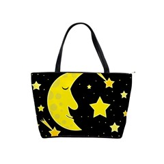 Sleeping moon Shoulder Handbags
