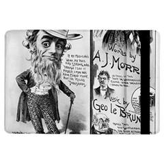 Vintage Song Sheet Lyrics Black White Typography iPad Air Flip