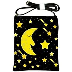Sleeping moon Shoulder Sling Bags