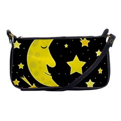 Sleeping moon Shoulder Clutch Bags