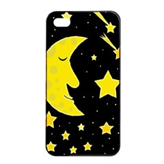 Sleeping moon Apple iPhone 4/4s Seamless Case (Black)