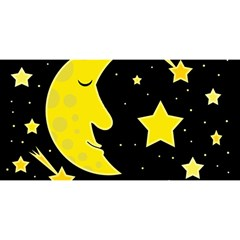 Sleeping moon YOU ARE INVITED 3D Greeting Card (8x4)