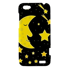 Sleeping moon HTC One V Hardshell Case