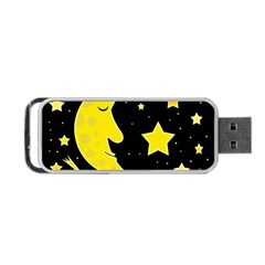 Sleeping moon Portable USB Flash (One Side)