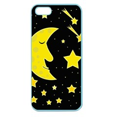 Sleeping moon Apple Seamless iPhone 5 Case (Color)