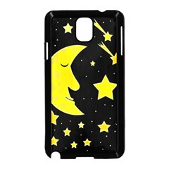Sleeping moon Samsung Galaxy Note 3 Neo Hardshell Case (Black)