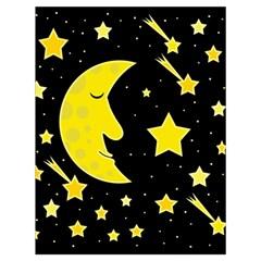 Sleeping moon Drawstring Bag (Large)