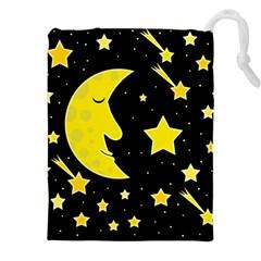 Sleeping moon Drawstring Pouches (XXL)