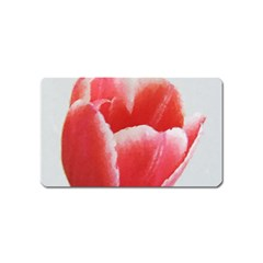 Tulip red watercolor painting Magnet (Name Card)