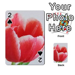 Tulip Red Watercolor Painting Playing Cards 54 Designs