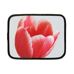 Tulip red watercolor painting Netbook Case (Small)