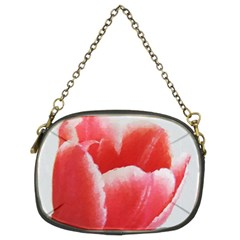 Tulip red watercolor painting Chain Purses (Two Sides)