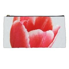 Tulip red watercolor painting Pencil Cases