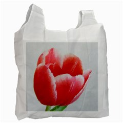Tulip red watercolor painting Recycle Bag (Two Side)