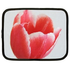 Tulip red watercolor painting Netbook Case (XXL)
