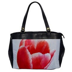 Tulip red watercolor painting Office Handbags