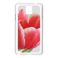 Tulip red watercolor painting Samsung Galaxy Note 3 N9005 Case (White)