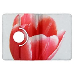 Tulip red watercolor painting Kindle Fire HDX Flip 360 Case